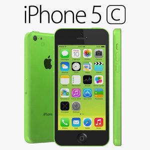 3d apple iphone 5c model