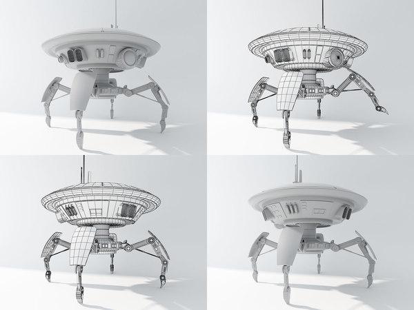 3d spider droid