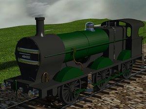free fowler 4f 0-6-0 steam locomotive 3d model