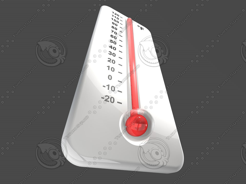 thermometer thermo meter 3d c4d