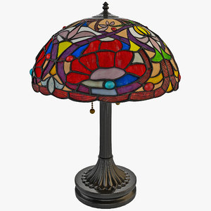 tiffany table lamp quoizel 3d model