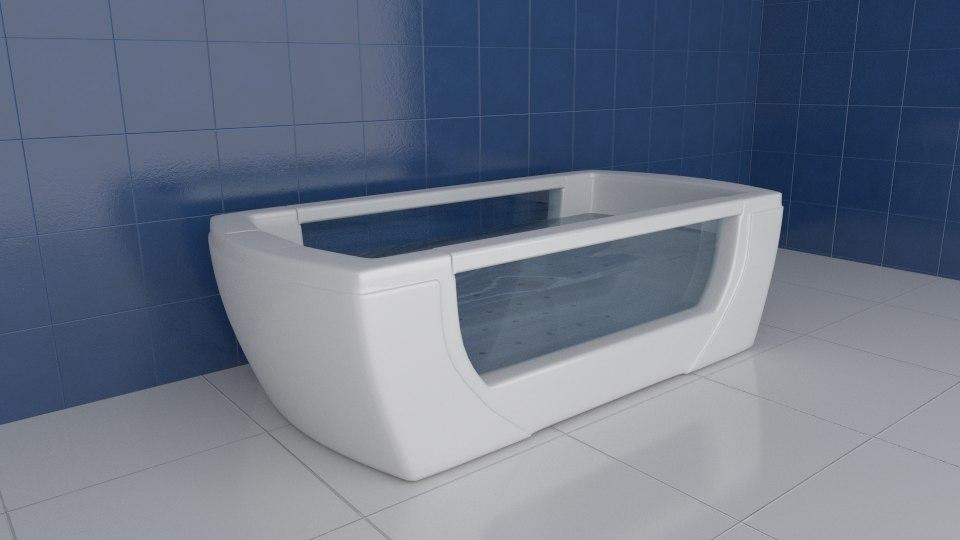 3d model bath tub