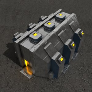 3ds max depot sci-fi building