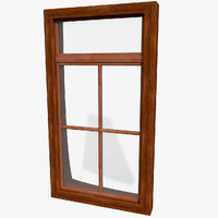 Office Interior Wood Window Frame
