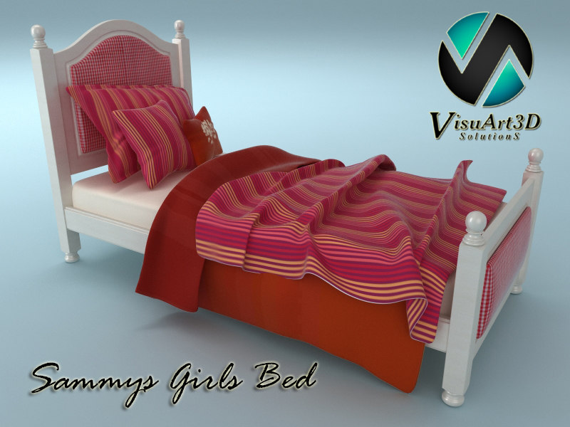 3d sammys girls bed