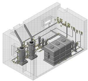 boiler room 3d model