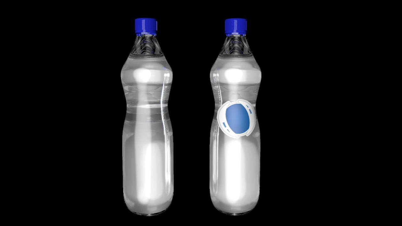 plastic bottle c4d