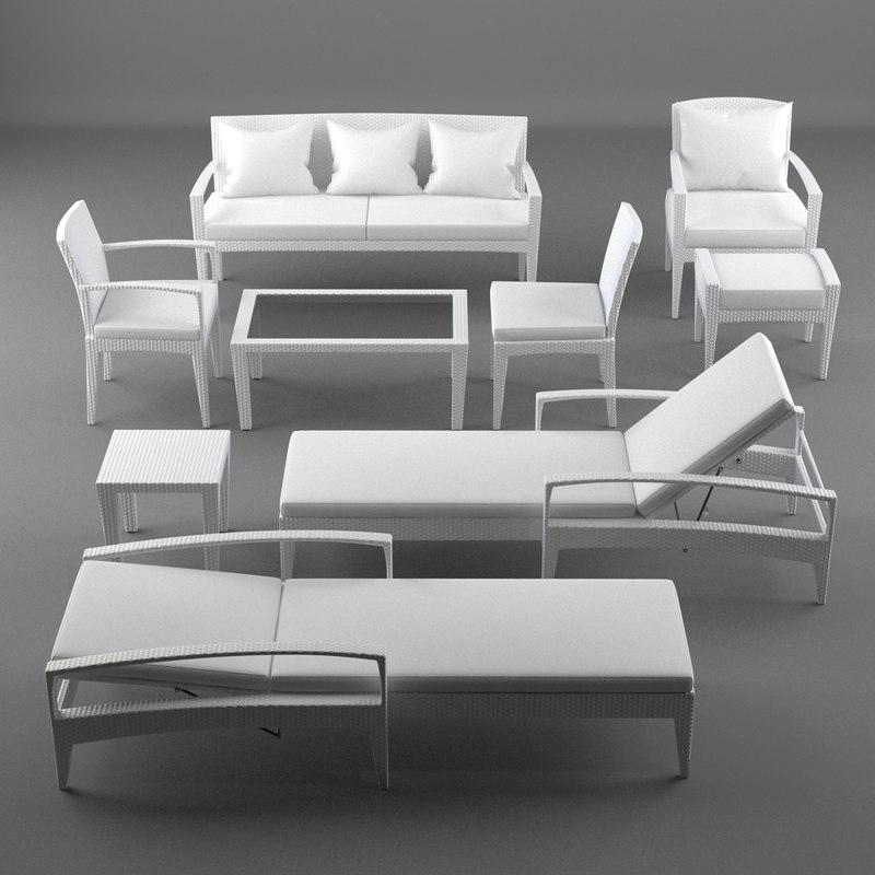 3d model lounge furniture panama