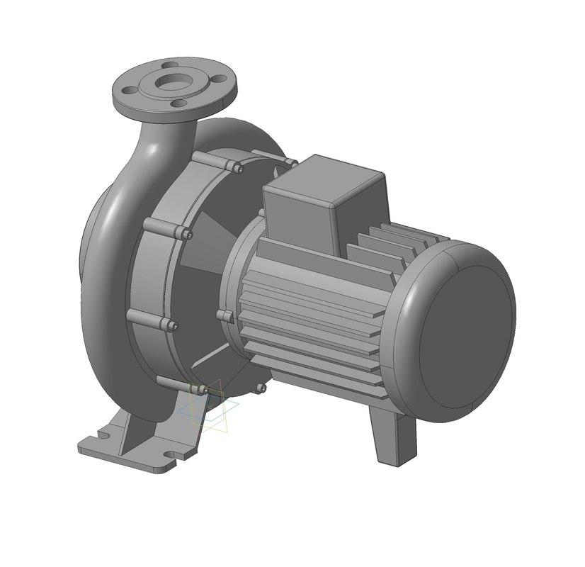 electric motor 3d ige