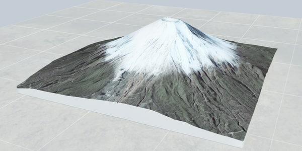 3d model mount fuji