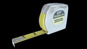 3d measuring tape model