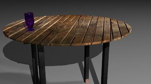 rustic table 3d max