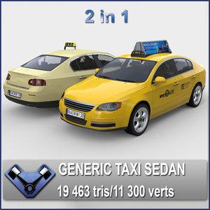 3d model generic sedan monsun