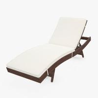 3d model rattan cushion
