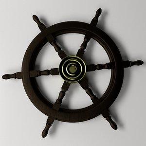 ships steering wheel 2 3d 3ds