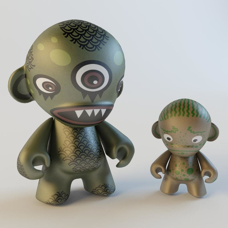 munny vinyl design 3d model