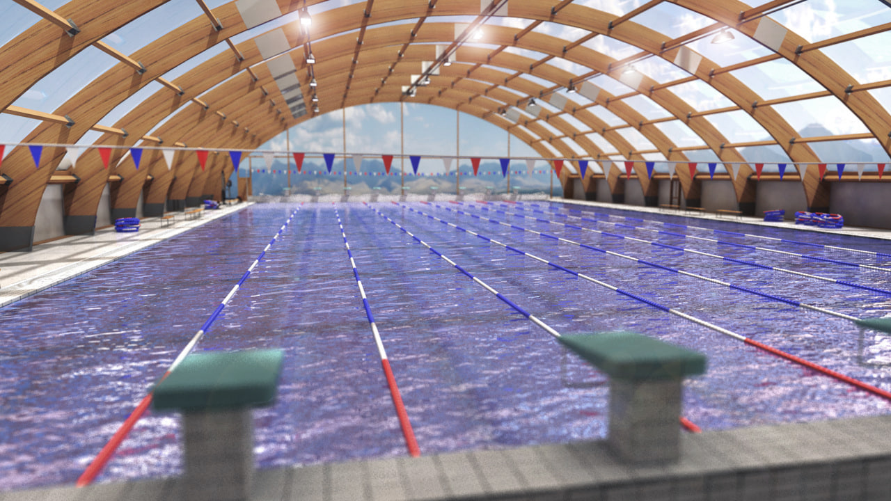 swimming pool - wooden obj