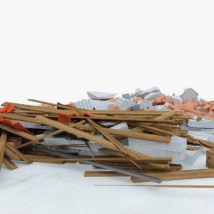 3d construction debris 3