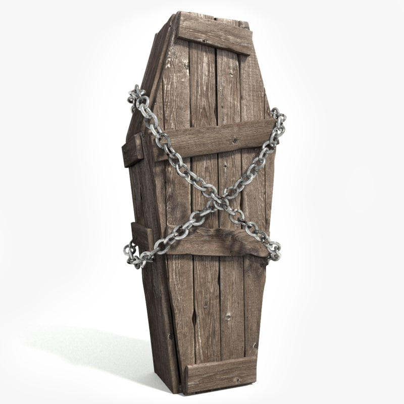 old en coffin 3d max
