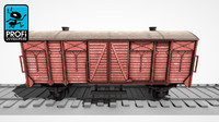 3d freight wagon ws 02