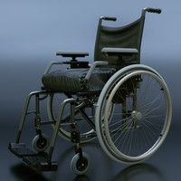 wheel chair 3d obj