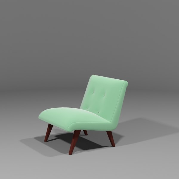 vintage chair 3d max