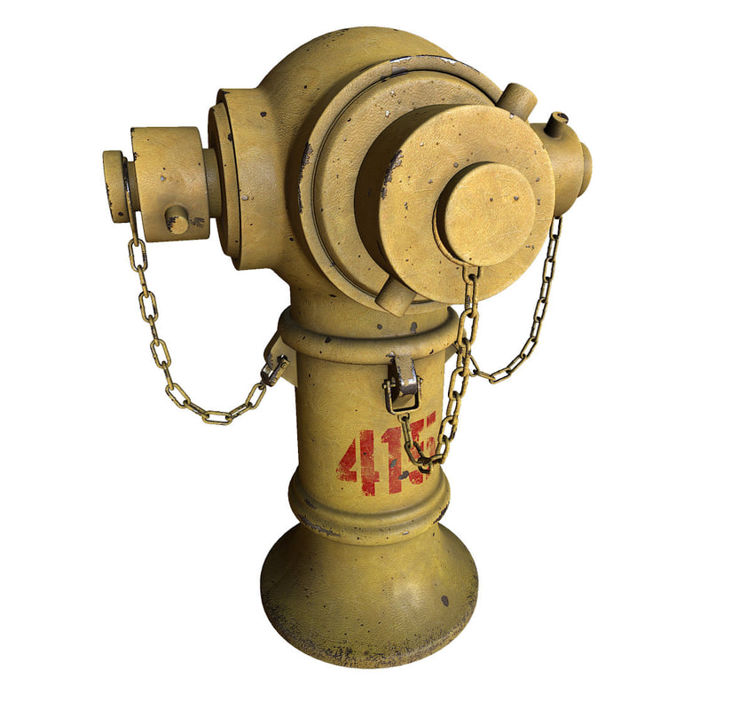 hong kong hydrant 3d model
