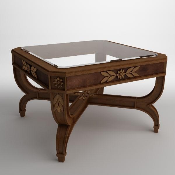 table antique 3d 3ds
