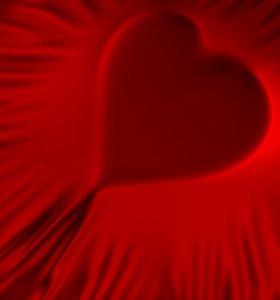 3d heart fabric