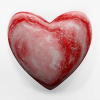 3d model of marble heart