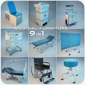 3d 9 in1 medical furniture