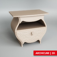 3d model of bedside table