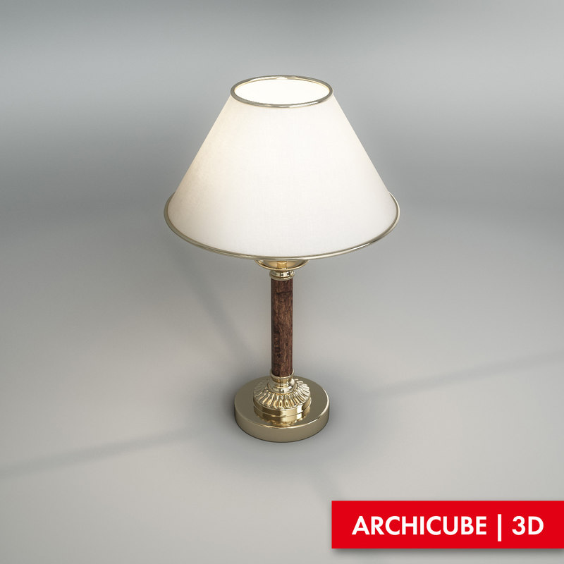 3d table lamp classic