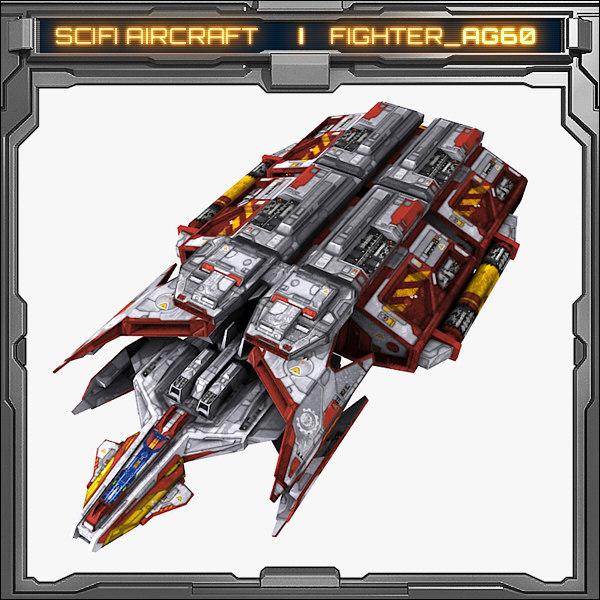 model scifi fighter ag60