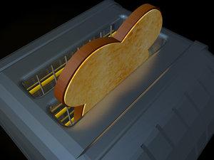 free dualit toaster toast 3d model