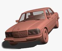 3d model mercedes-benz w123