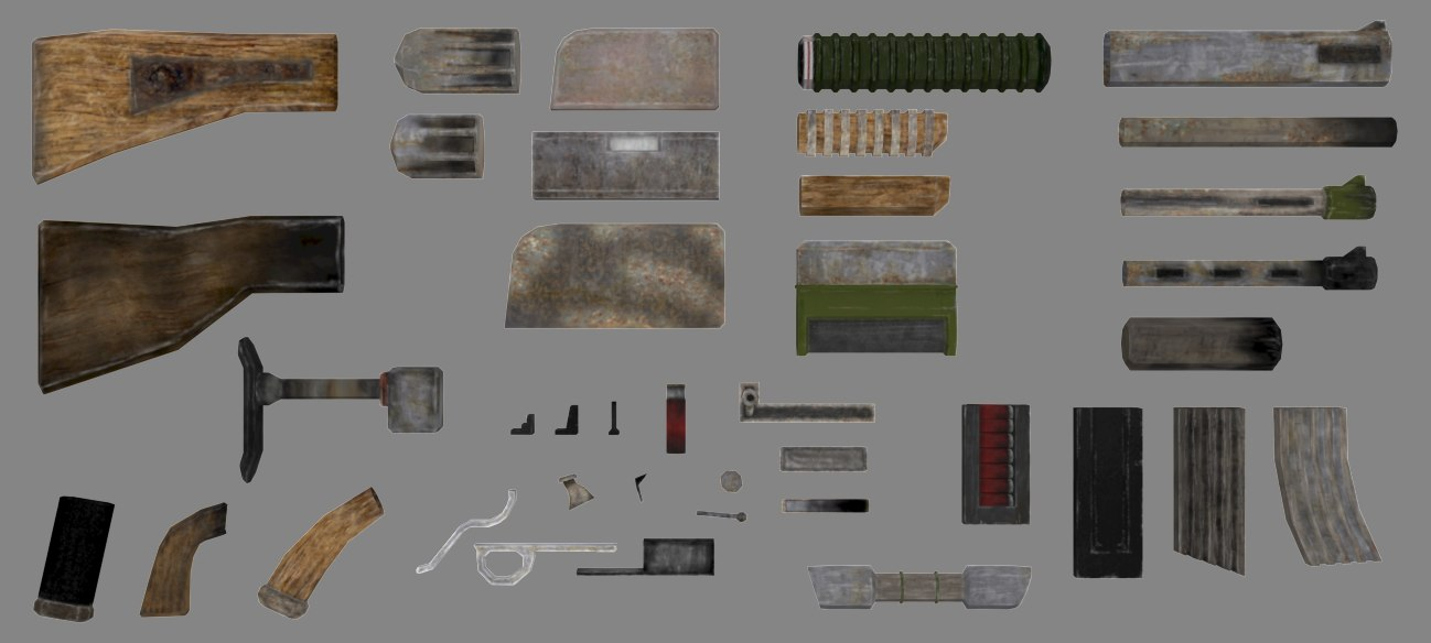 3d modular weapon guns model