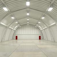 Hangar Interior Scene