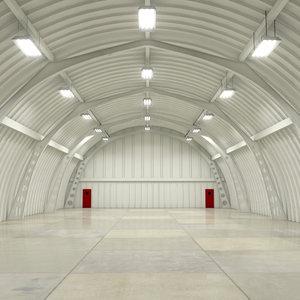 3ds hangar interior scene