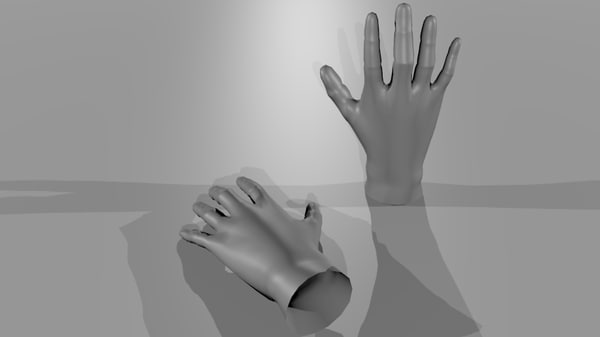 free basemesh human-hands 3d model