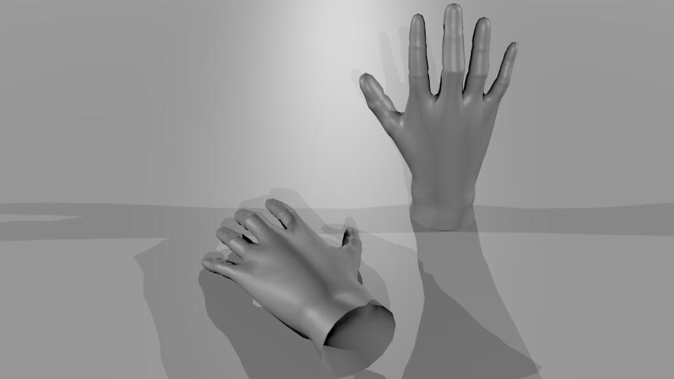 free basemesh human-hands 3d model