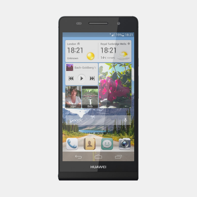 3d huawei ascend p6 model