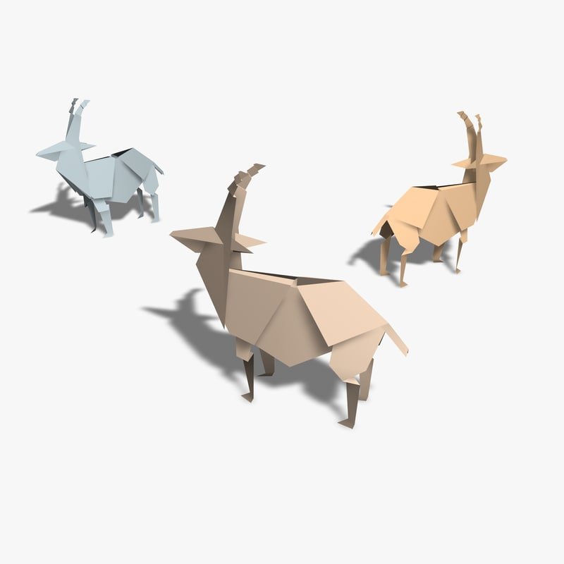 origami antelope 3d 3ds