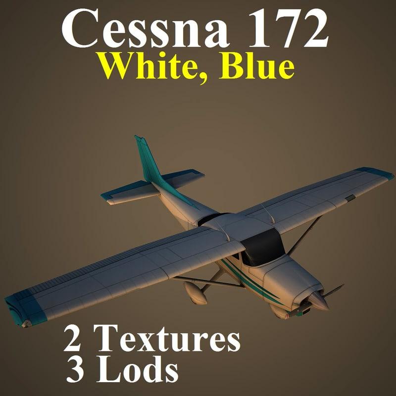 cessna 172 dbl aircraft 3d max