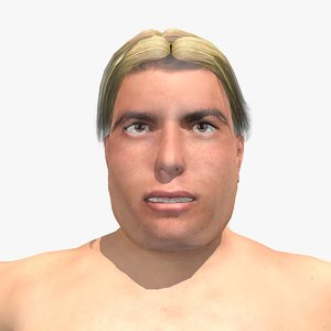 realistically nude joe male body 3d model
