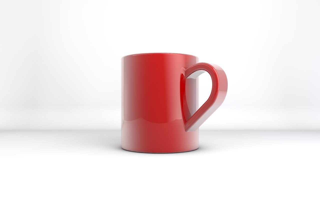 mug glass tea 3d model