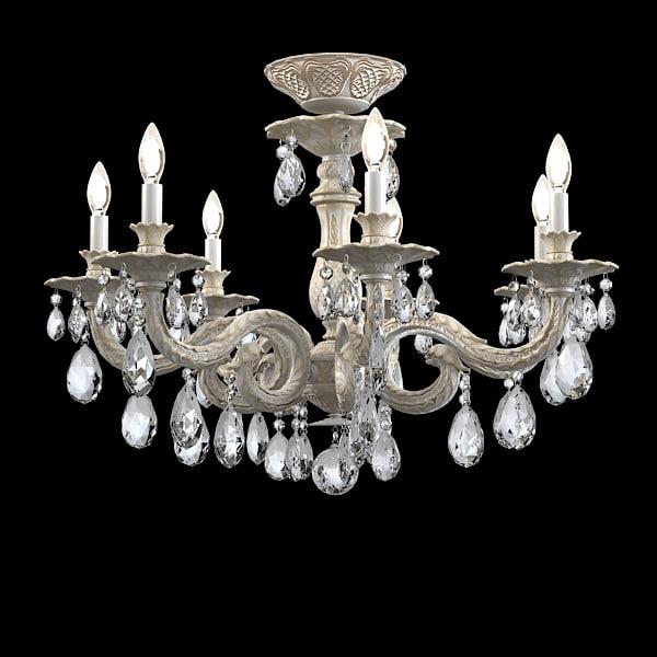 schonbek milano chandelier 3d max