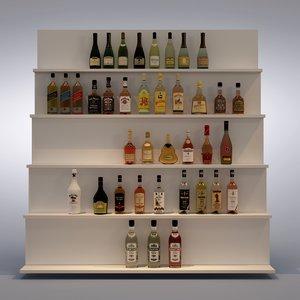3d set bottles