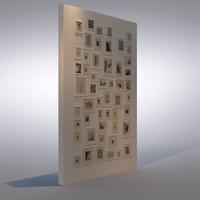 set frames 3d model