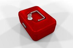 petty cash box 3d 3ds